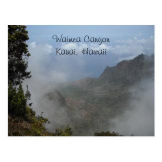 Carte Postale Canyon de Waimea - Kauai, Hawaï