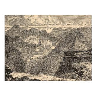 Carte Postale Canyon grand, amphithéâtre, buttes sculptées