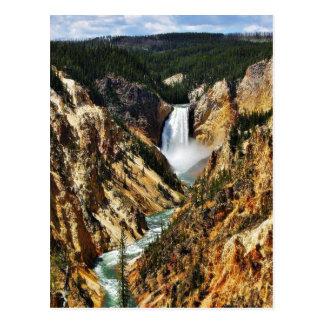 Carte Postale Canyon grand du parc de Yellowstone regardant