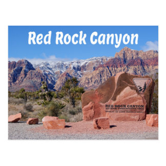 Carte Postale Canyon rouge Las Vegas Nevada Etats-Unis