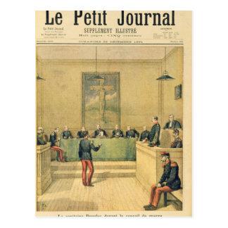 Carte Postale Capitaine Dreyfus avant la cour martiale
