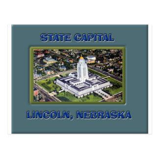 Carte Postale Capitale de l'État Lincoln Nébraska