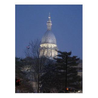 Carte Postale Capitol construisant Lansing Michigan