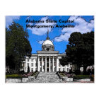 Carte Postale Capitol d'état de l'Alabama à Montgomery (bande