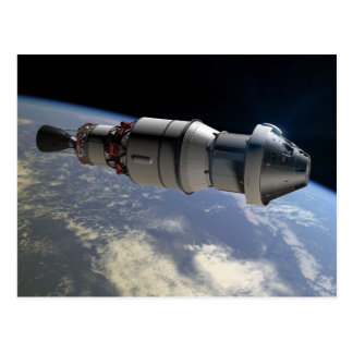 Carte Postale Capsule d'Orion et supérieur-étape du delta IV en