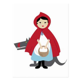 Carte Postale Capuchon rouge