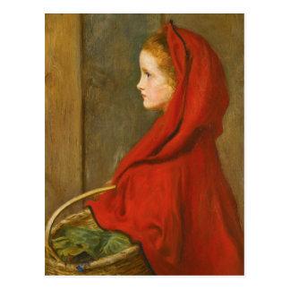 Carte Postale Capuchon rouge par Millais