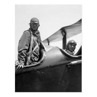 Carte Postale Car de vol, les années 1920