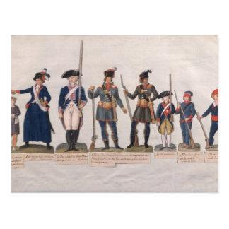 Carte Postale Caractères de la révolution française