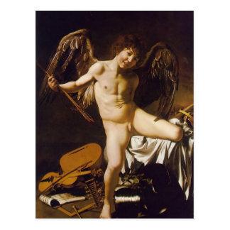 Carte Postale Caravaggio- Amor victorieux
