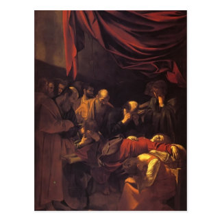 Carte Postale Caravaggio- la mort de la Vierge