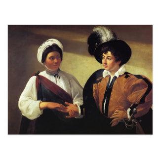 Carte Postale Caravaggio- le diseur de bonne aventure