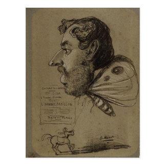 Carte Postale Caricature de Claude Monet de Jules Didier C. Te