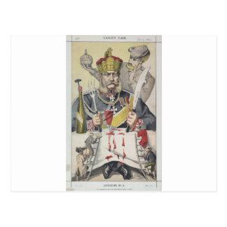 Carte Postale Caricature des Sovereigns No.80 du roi de Prussi