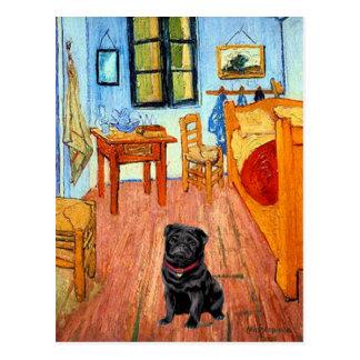 Carte Postale Carlin 17 (noir) - la salle