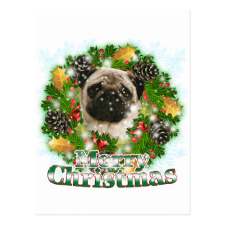 Carte Postale Carlin de Joyeux Noël