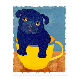 Carte Postale Carlin de tasse de thé