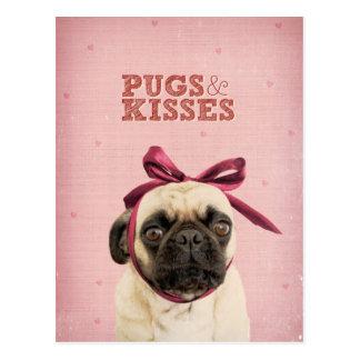 Carte Postale Carlins et baisers par l'itslolathepug