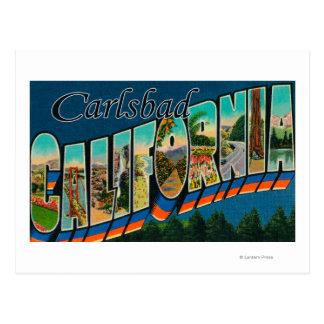 Carte Postale Carlsbad, la Californie - grandes scènes de lettre
