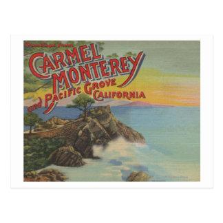 Carte Postale Carmel, Monterey, et verger Pacifique, CA -