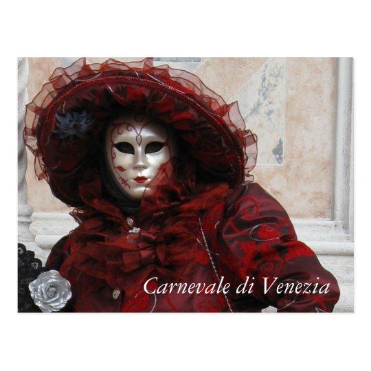 Carte Postale Carnaval de Venise | Zazzle.fr
