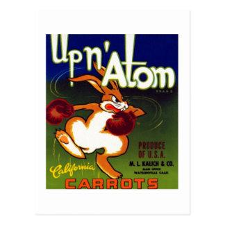 Carte Postale Carottes d'atome d'Upn