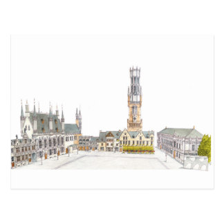 Carte Postale Carré de Burg. Bruges Belgique