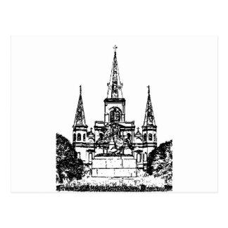 Carte Postale Carré de Jackson, la Nouvelle-Orléans, LA