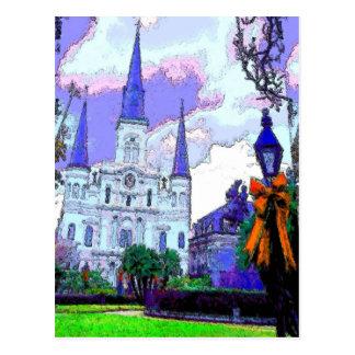 Carte Postale Carré de la Nouvelle-Orléans Jackson à Noël