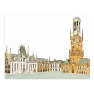 Carte Postale Carré du marché. Bruges Belgique