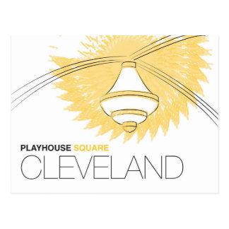 Carte postale carrée de Cleveland de maison de