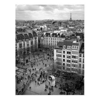 Carte postale carrée de Pompidou