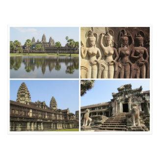 Carte Postale carrés d'Angkor Vat