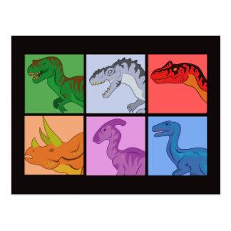 Carte Postale Carrés de dinosaure