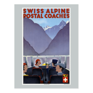 Carte Postale Cars postaux alpins suisses Suisse