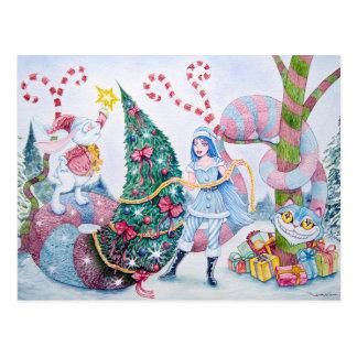 Carte Postale «Carte de voeux in Wonderland» Postcard