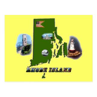 Carte Postale Carte, photos et texte d'Île de Rhode