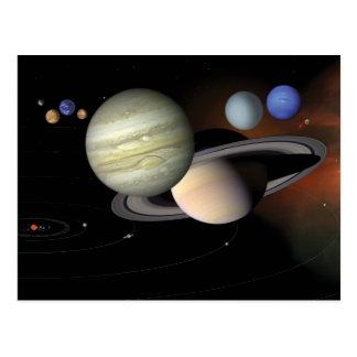 """Carte Postale """"Carte postale du système solaire"""""""