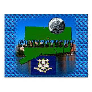 Carte Postale Carte, texte, quart, drapeau et paysage de