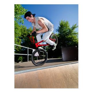 Carte Postale Cascade de vélo de BMX