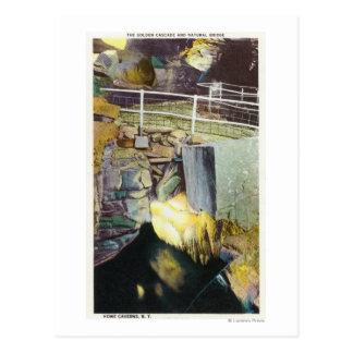 Carte Postale Cascade d'or et vue naturelle de pont