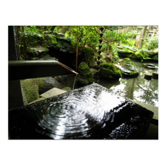 Carte Postale Cascade en bambou au Japon