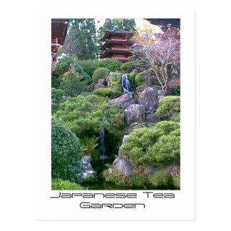 Carte Postale Cascade japonaise de jardin de thé