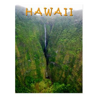 Carte Postale Cascade spectaculaire dans Molokai, Hawaï