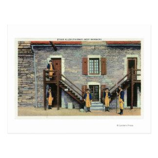 Carte Postale Casernes occidentales, scène d'escalier d'Ethan
