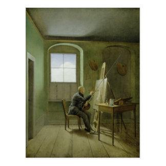 Carte Postale Caspar David Friedrich dans son studio, 1811