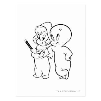 Carte Postale Casper et Wendy