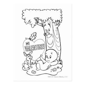 Carte Postale Casper Valentine