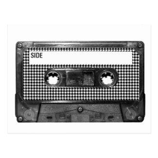 Carte Postale Cassette noire et blanche de pied-de-poule