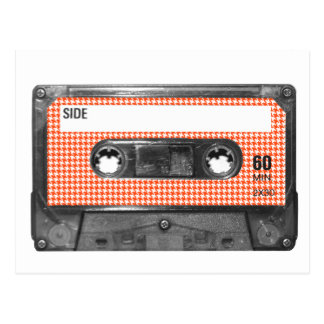 Carte Postale Cassette orange et blanche d'étiquette de